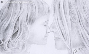 Daughter-love-mother-pencil-drawing